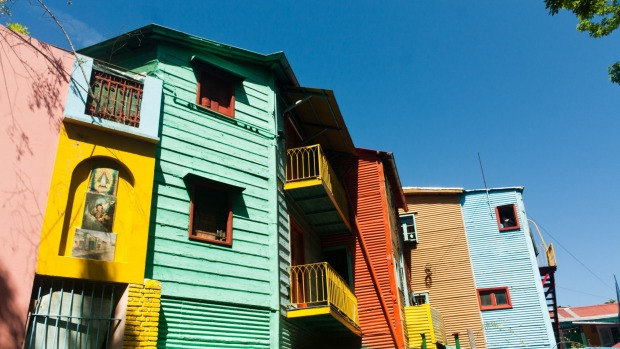 The colourful buildings of La Boca.
