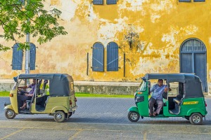 Tuk tuks will whiz you all around Galle.
