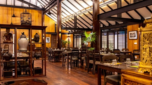 The Sugar Palm restaurant, which serves up a highly memorable take on amok, a traditional Cambodian dish.