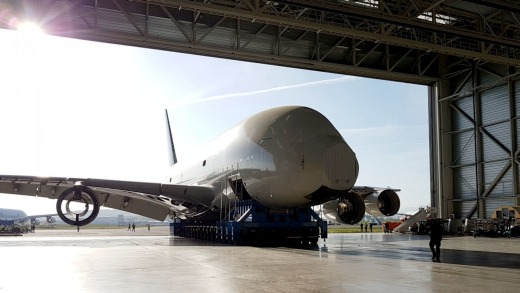 The world's first Airbus A380 has been dismembered for spare parts like engines and aeronautic components.
