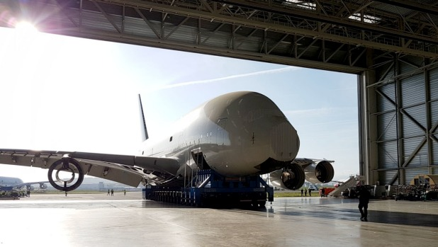 The world's first Airbus A380 is being dismembered for spare parts like engines and aeronautic components.