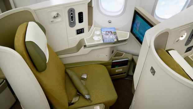 Business class on board Vietnam Airlines' 787 Dreamliner.