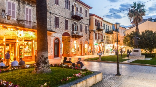 Nafplio in the evening.