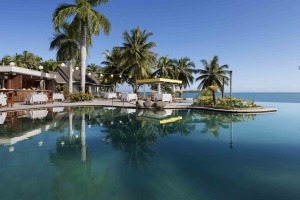 The pool at Sofitel Fiji Resort & Spa.