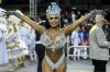 Queen of Percussion  Ana Beatriz Godoi of Rosas de Ouro Samba School performs during the parade at Anhembi Sambadrome of ...