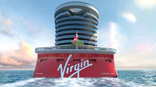 The Scarlet Lady will host 2770 passengers and 1160 crew.