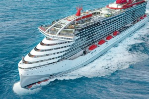 Virgin Voyages' first cruise ship, Scarlet Lady.