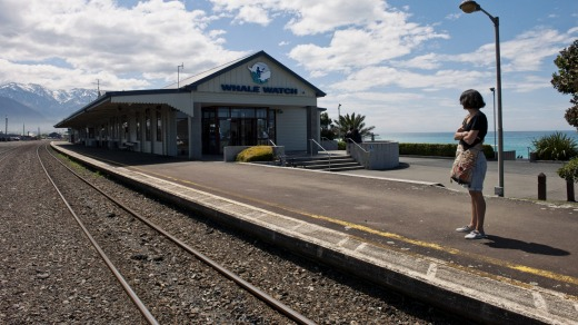 New Zealand's Coastal Pacific service stops at the whale-watching town of Kaikoura.