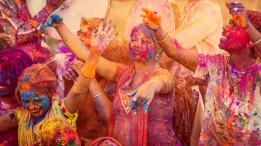 Vivid colours of the Holi Festival.