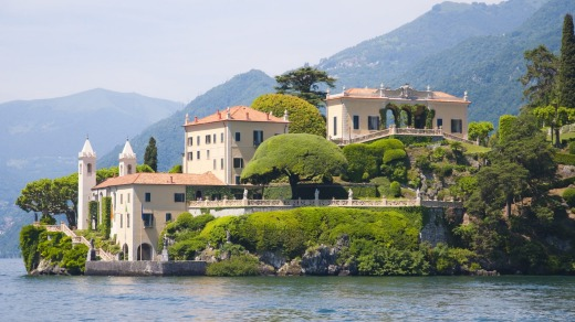 The Villa del Balbianello, a villa on the tip of a small wooded peninsula on Lake Como, is famous for its elaborate ...