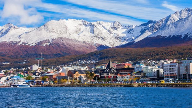 Ushuaia, the capital of Tierra del Fuego province in Argentina.