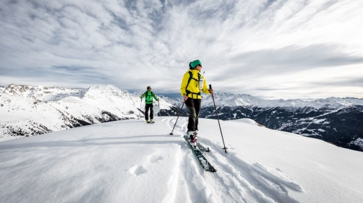 Ski touring in Verbier.