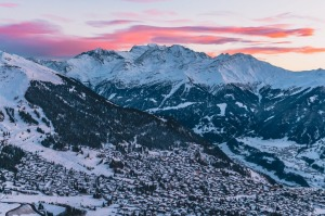 The stunning, south-facing Verbier village.