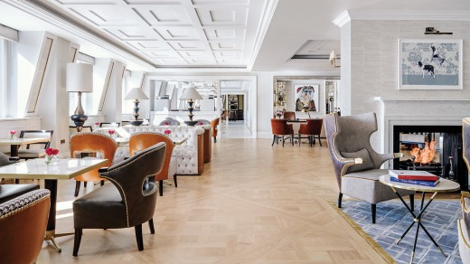 The Langham London Club Lounge: Pretty, poised and posh as a duke.