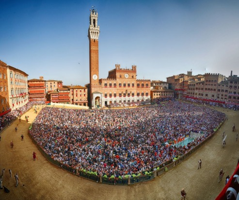 The Palio, Siena, Italy: Almost certainly the most ferociously dangerous horse race in the world, the Palio takes place ...