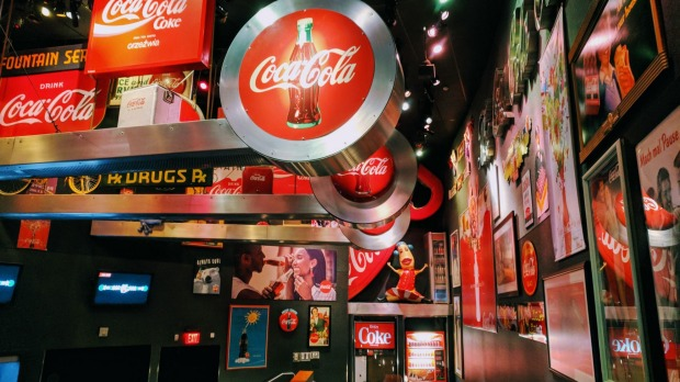 World of Coca Cola Coke museum.
