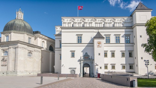 Palace of The Grand Dukes of Lithuania and National Museum in Vilnius, Lithuania.