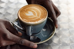 Acoffee served with love at Dumu Balcony Cafe.