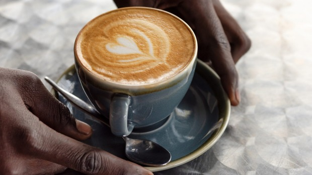 A coffee served with love at Dumu Balcony Cafe.