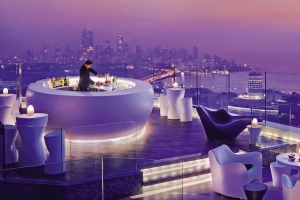 Mumbai's highest sky bar: The AER Lounge at Four Seasons Hotel Mumbai.