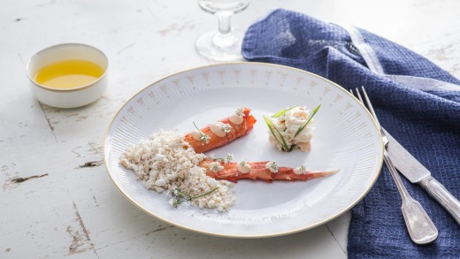 Curtis Stone's roasted crab for Princess Cruises.
