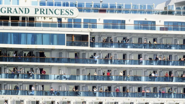 The Grand Princess, which had about 3500 crew and passengers on board, was temporarily stranded along California's coast ...