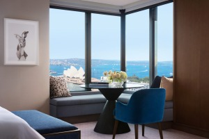 The Four Seasons Hotel Sydney's corner suites make the most of its views.