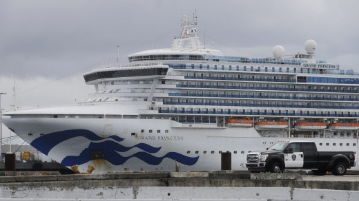 The Grand Princess was eventually allowed to dock at the Port of Oakland in California after passengers tested positive ...