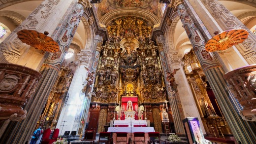 The altar in Seville Cathedral, Spain.