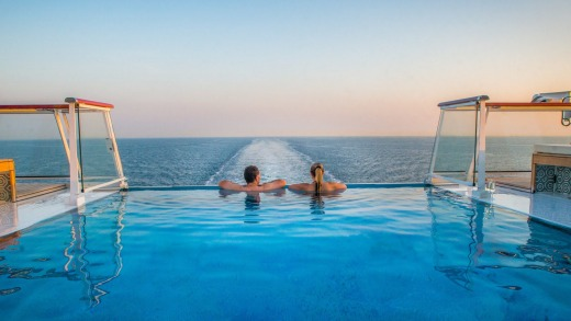 The infinity pool on-board the Viking Star.