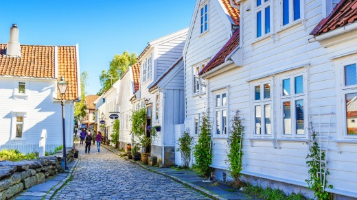 The Old Town, Stavanger, Norway.