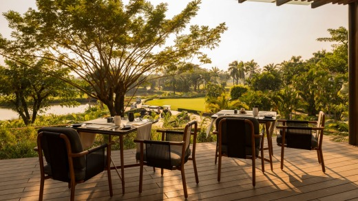 Dining with a view at Awei Metta, Yangon.