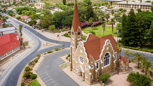 The Christ Church in downtown Windhoek, capital of Namibia.