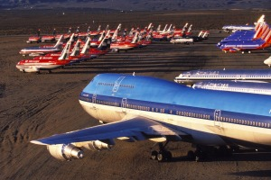 Aircraft storage facilities are typically located in deserts, where the the warm, low-humidity, salt-free air of ...
