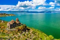 Hayravank monastery on the shores of lake Sevan, Armenia.