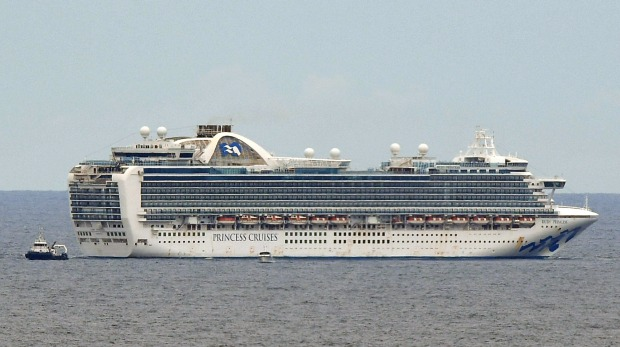 The Princess Cruises-owned Ruby Princess in waters off Sydney.