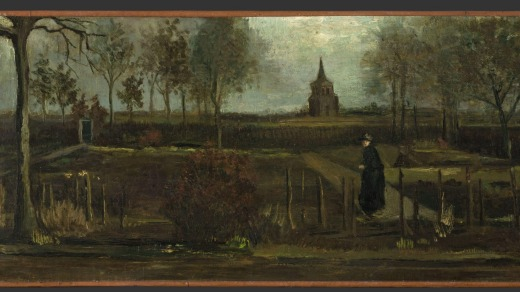 Vincent van Gogh's painting 'The Parsonage Garden at Nuenen in Spring' which was stolen from the Singer Museum.