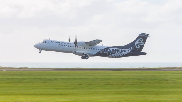 Air New Zealand's only plane in the sky on the morning of April 1 was an ATR-72.