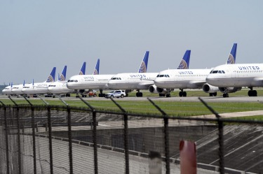 United Airlines planes are parked at George Bush Intercontinental Airport. The Chicago-based airline said on March 20 it ...