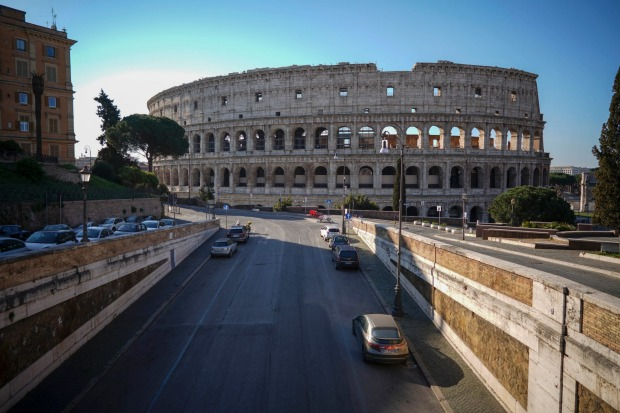 Rome's biggest tourist attraction, the Colliseum.