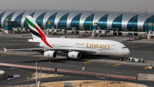 Emirates' Airbus A380 superjumbos will remain grounded for the time being.