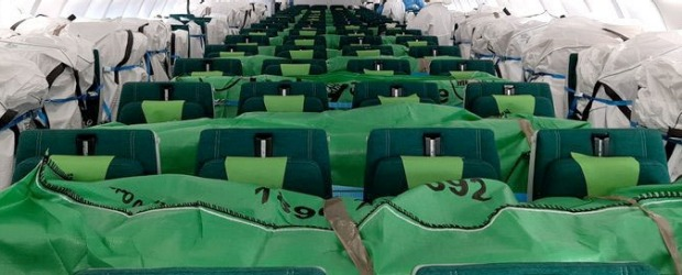 Aer Lingus is one of several airlines filling its empty seats in the passenger cabin with cargo.