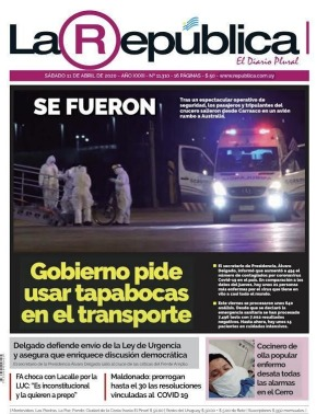The ship's predicament was front-page story in Uruguyan newspaper La Republica.