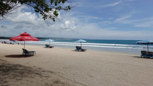 A nearly empty beach in Kuta, Bali. The number one destination last winter for Australians is no longer in the top 10.