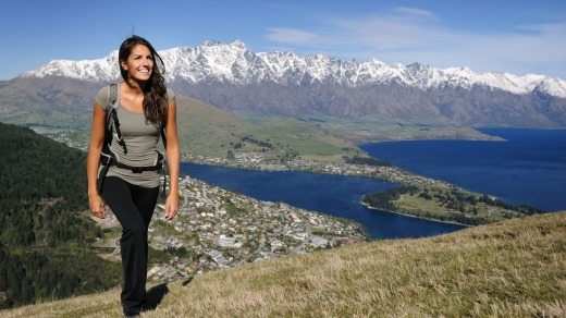 Kiwis are hoping to welcome Australians to destinations such as Queenstown (pictured) in time for this year's ski season.