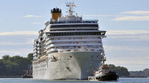Passengers on board the Costa Deliziosa have not set foot on land since leaving Perth last month.