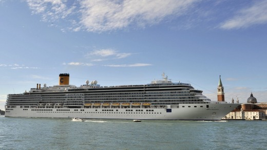 The Costa Deliziosa set sail from Venice in early January.