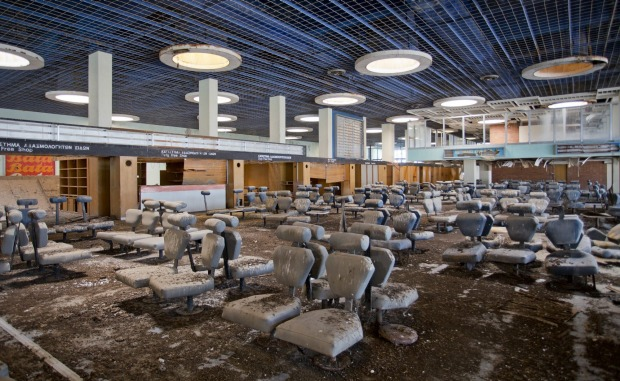 The passenger departure area at the abandoned Nicosia International Airport on April 28, 2016 in Nicosia, Cyprus.