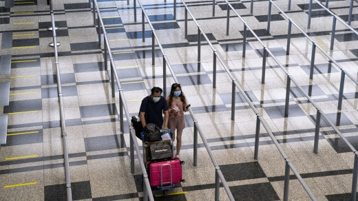 Visitors will need to undergo a COVID-19 test upon arrival at Singapore's Changi Airport.