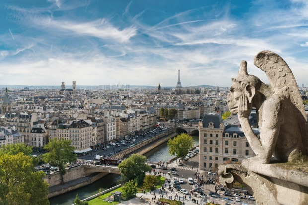 View from the Notre Dame Cathedral, Paris, after the tragic fire of 2019.  After much talk about radically different ...